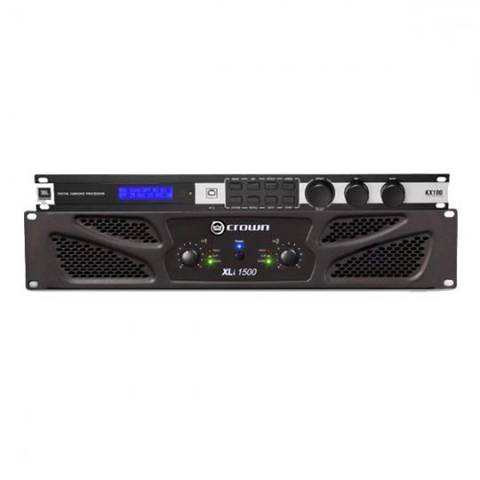 Cục đẩy Crown XLi1500 + Mixer JBL KX180