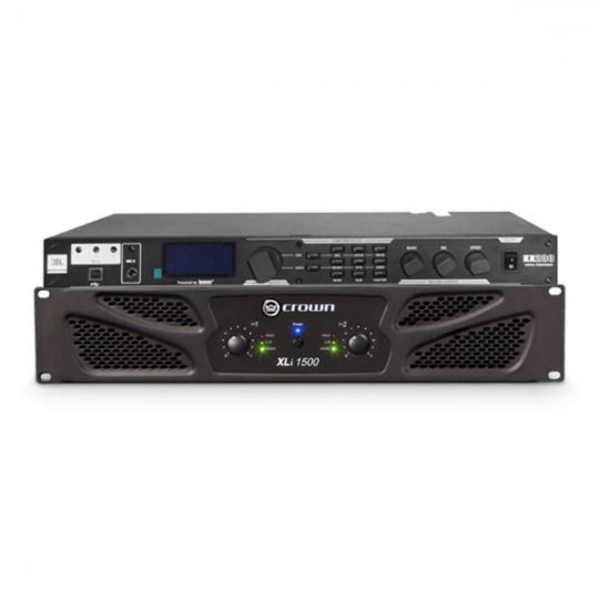 Cục đẩy Crown XLi1500 + Mixer JBL KX200