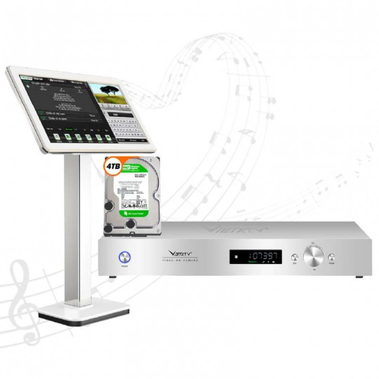 Đầu Karaoke Việt Ktv HD Plus 4TB + Màn hình cảm ứng 21inch