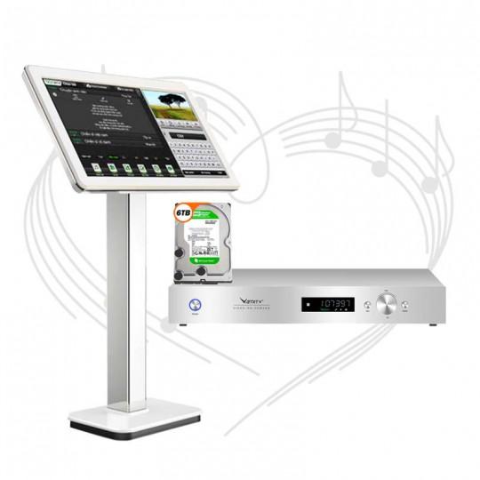 Đầu karaoke Việt Ktv HD Plus 6TB + Màn hình cảm ứng 21 inch