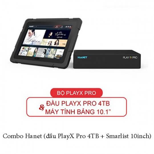 Combo Hanet (đầu PlayX Pro 4TB + Smarlist 10inch)