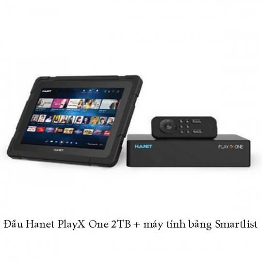 Đầu Hanet PlayX One 2TB + máy tính bảng Smartlist