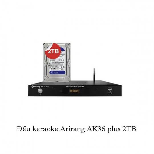 Đầu karaoke Arirang AK36 plus 2TB