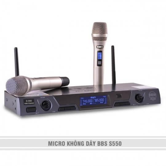 MICRO KHÔNG DÂY BBS S550
