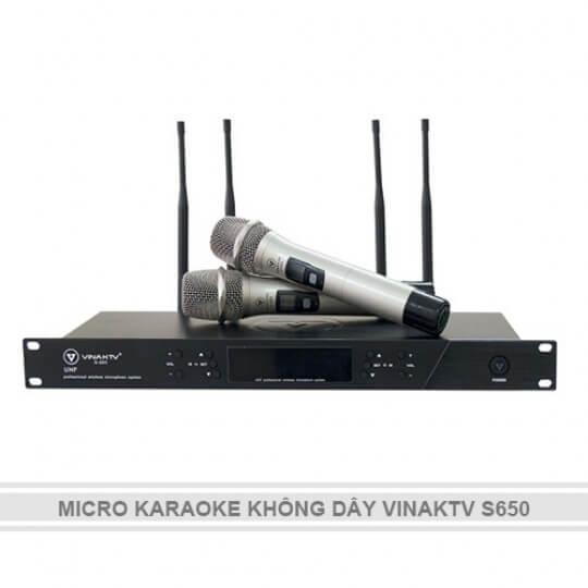MICRO KARAOKE KHÔNG DÂY VINAKTV S650