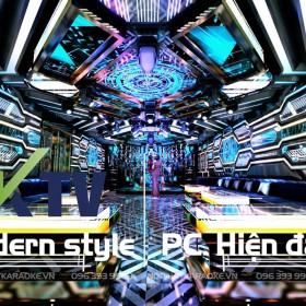 Thiết kế phòng karaoke mang phong cách hiện đại ấn tượng