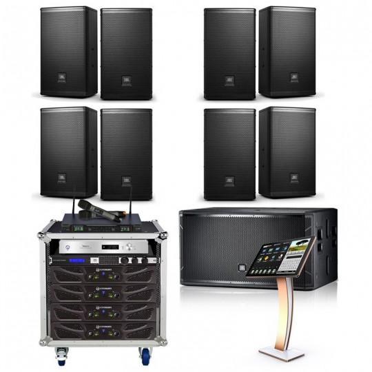 Combo cấu hình loa JBL phòng karaoke 35 đến 40 m2 sàn