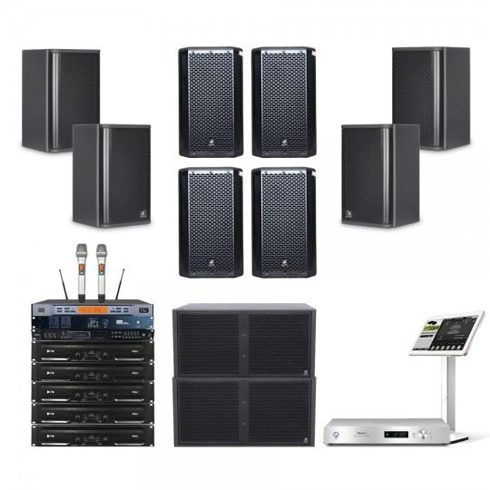 Combo âm thanh karaoke 4 Acaustic 35 đến 40 m2 sàn