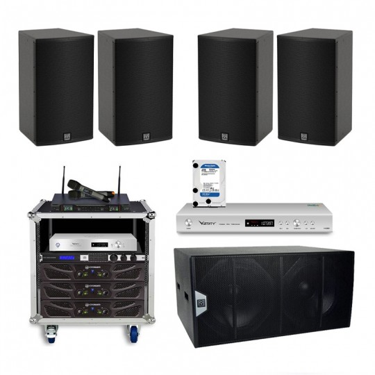 Cấu hình âm thanh Martin phòng karaoke 25 đến 30 m2 sàn