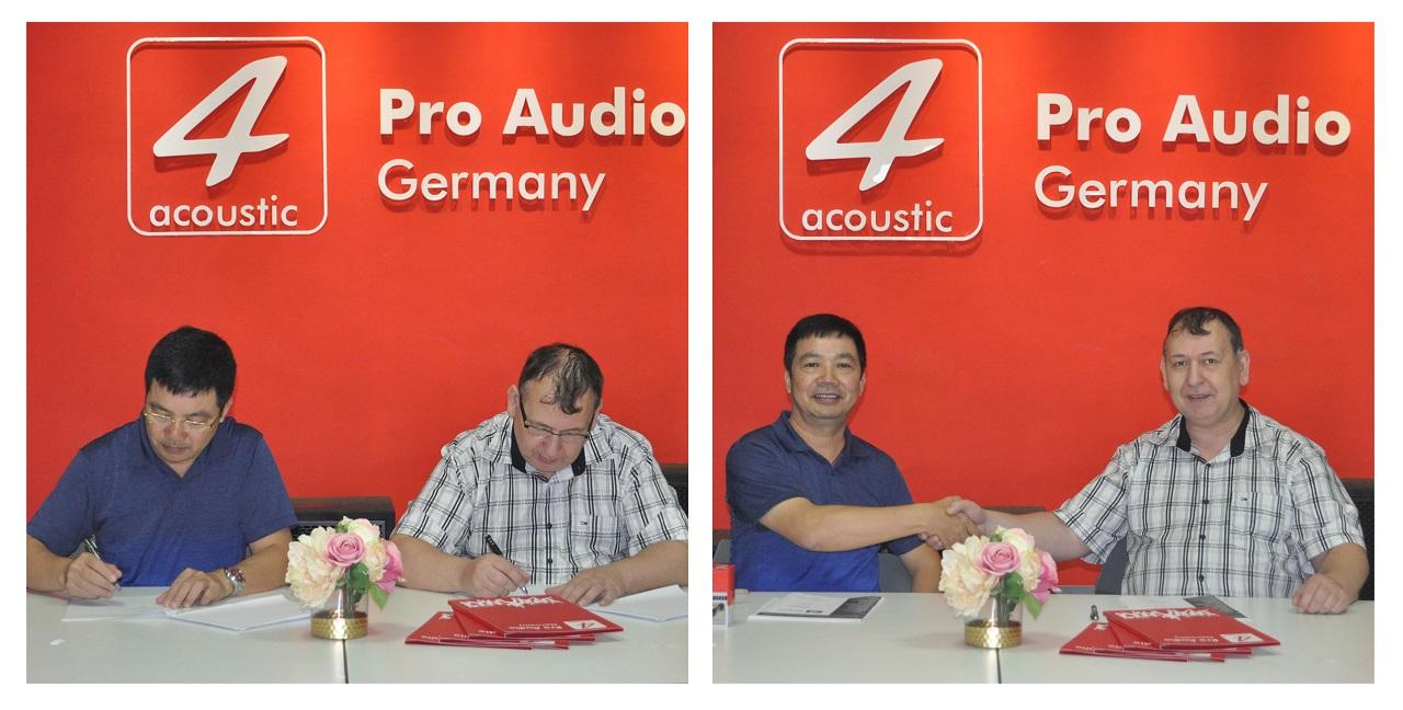 Ký hợp đồng đại lý 4 Acoustic Việt Nam
