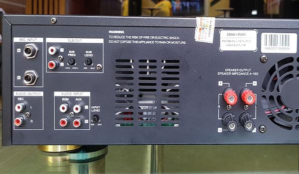 Amply HAS 10T dễ dàng kết nối với thiết bị khác