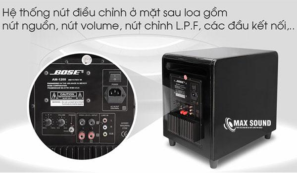Loa sub Bose 1200 bố trí hệ thống điều chỉnh, phối ghép linh hoạt