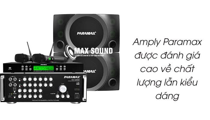 Amply Paramax được đánh giá cao về chất lượng lẫn kiểu dáng