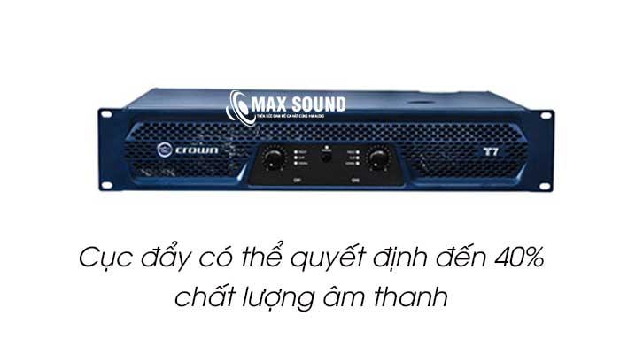 Cục đẩy quyết định 40% chất lượng âm thanh