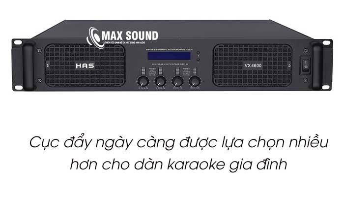 Cục đẩy công suất karaoke gia đình ngày càng được sử dụng nhiều hơn