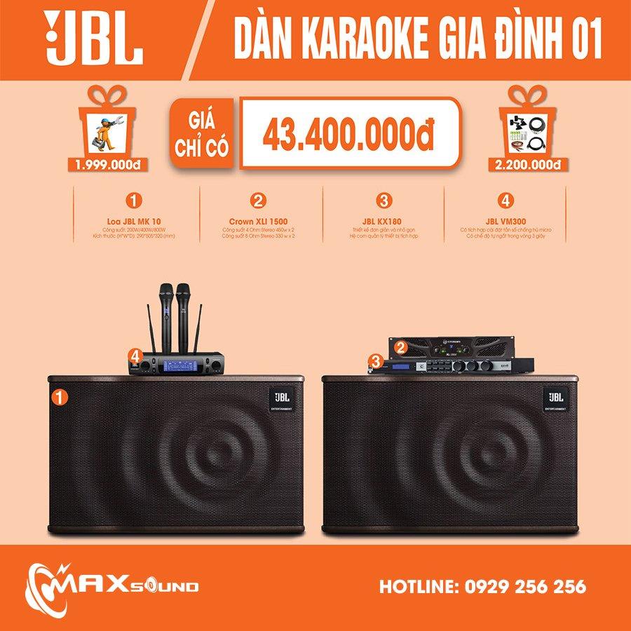 Dàn Karaoke gia đình 01 phối ghép từ các thiết bị cao cấp JBL