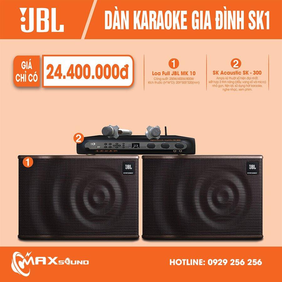 Dàn karaoke gia đình SK1 có công suất và chất âm cực đỉnh