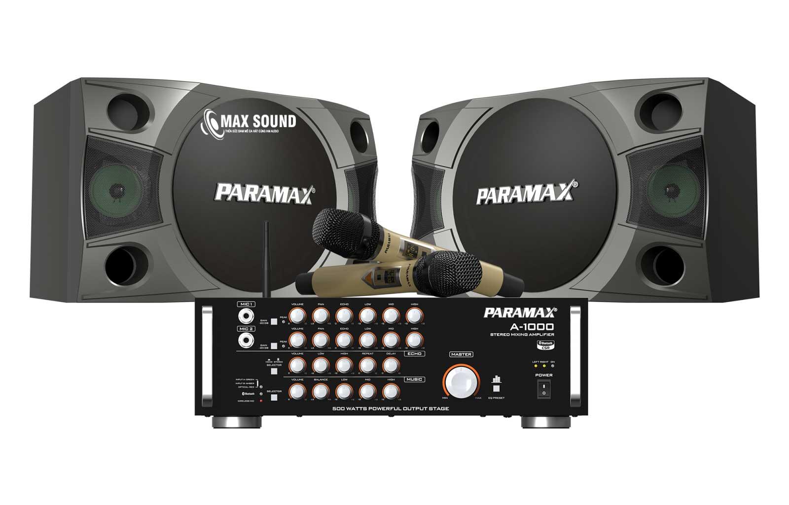 Dàn karaoke Paramax sở hữu công suất khủng
