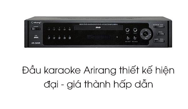 Đầu karaoke Arirang có thiết kế hiện đại