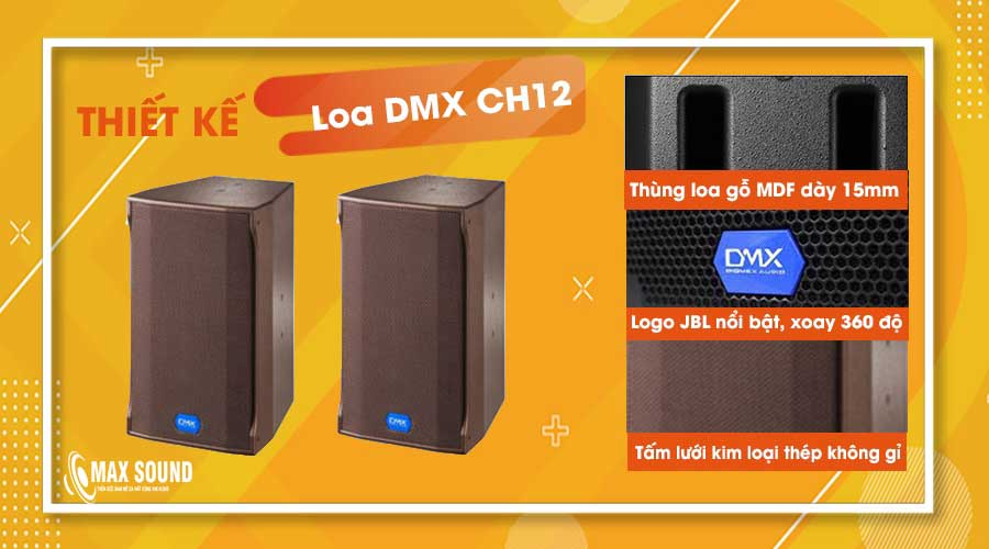 Loa DMX sở hữu thiết kế sang trọng