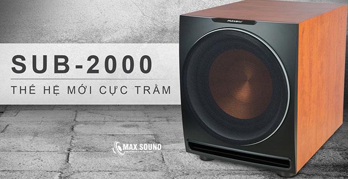 Loa sub Paramax 2000 là dòng sub thế hệ mới