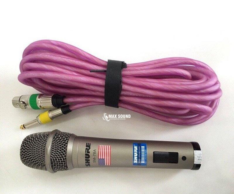 Micro có dây Shure SM-78A mang đến âm dày và khỏe