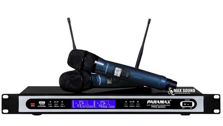 Micro không dây Paramax thích hợp với nhiều không gian