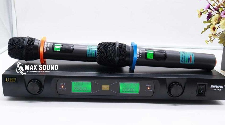 Micro Shure SH 999 hiệu chỉnh dễ dàng