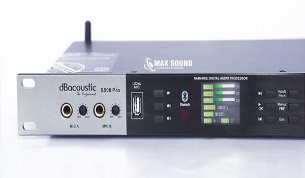 Vang số DB Acoustic S500 Pro có 2 nhóm micro