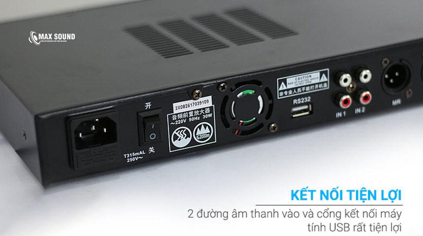 Vang số X8 kết nối máy tính hay USB rất tiện lợi