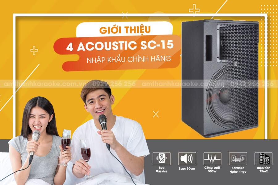 Giới thiệu loa 4 Acoustic SC-15