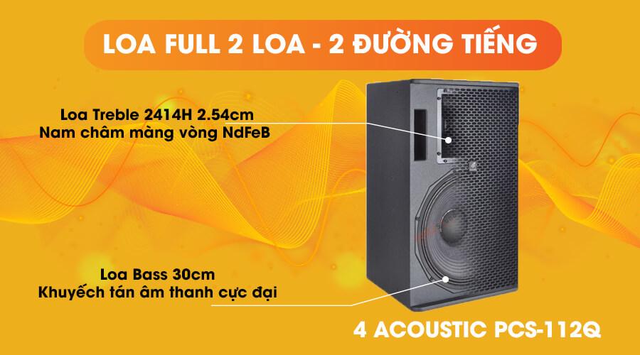 Loa 4acoustic PCS 112Q loa full 2 đường tiếng