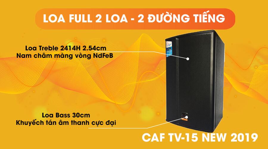 Loa CAF TV-15 full 2 loa 2 đường tiếng
