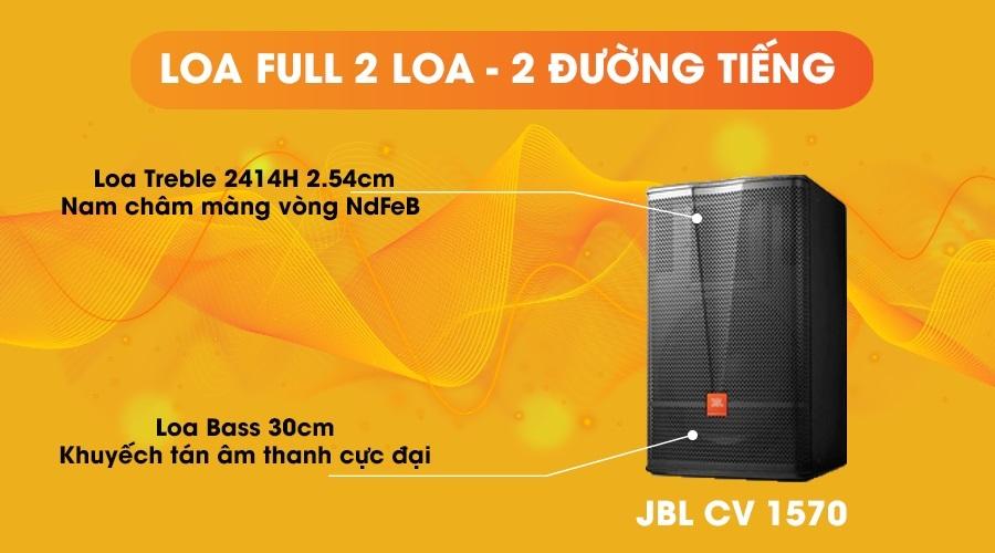 Loa JBL CV-1570 full 2 loa 2 đường tiếng