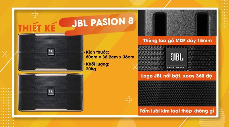 Thiết kế loa JBL Pasion 8