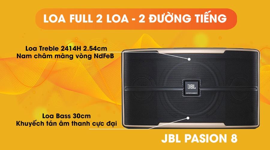 Loa JBL Pasion 8 full 2 loa 2 đường tiếng