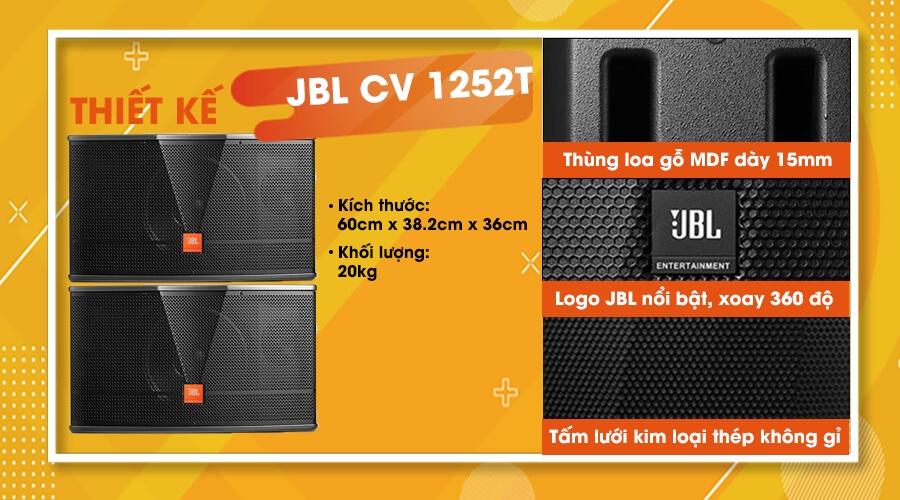 Thiết kế của loa JBL CV-1252T