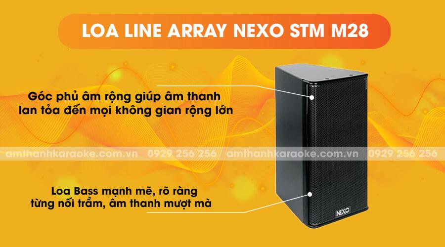 Loa Line Array Nexo STM-M28 bass mạnh mẽ
