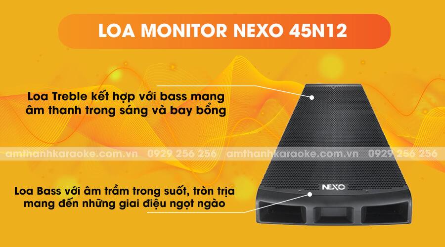 Loa Monitor Nexo 45N12 kết hợp bass và treble