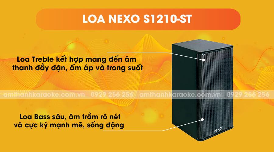 Loa Nexo S1210-ST kết hợp bass và treble