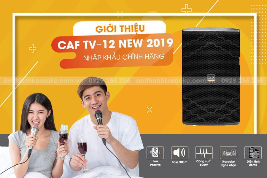 Giới thiệu loa CAF TV-12 New 2019