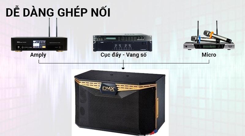 Loa DMX CF10K dễ dàng ghép nối