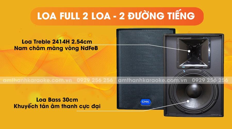Loa DMX ES10+ full 2 loa 2 đường tiếng