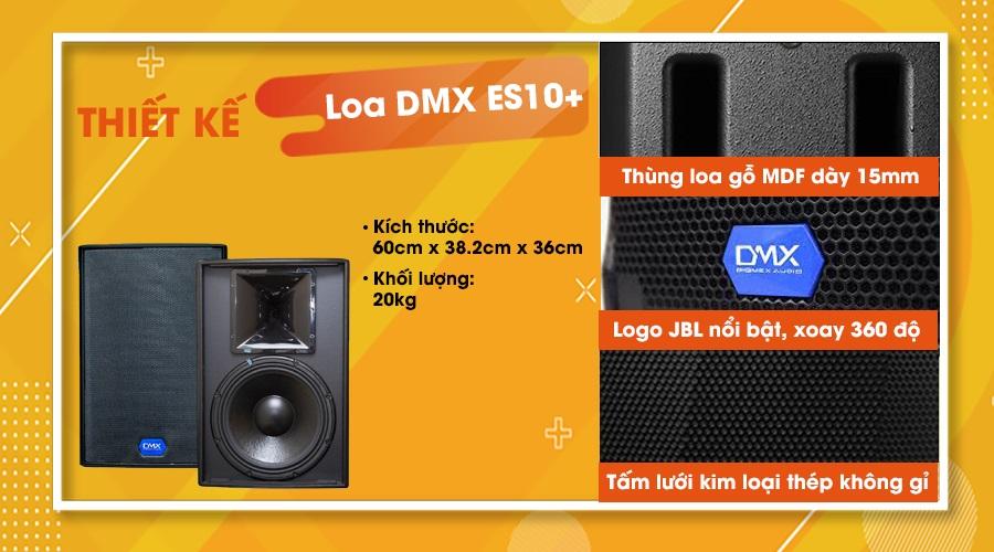 Thiết kế loa DMX ES10+