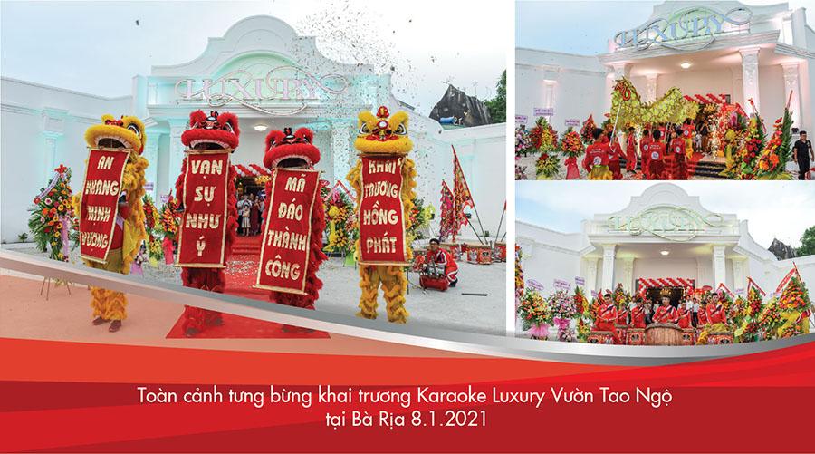Toan-canh-tung-bung-khai-truong-karaoke-Luxury-Vuon-Tao-Ngo