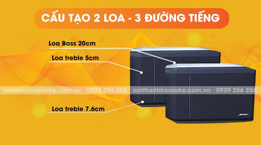 Loa Bose 301 Series IV có cấu tạo 2 loa 3 đường tiếng