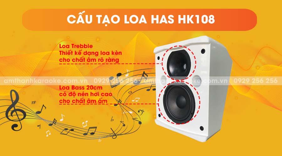 Cấu tạo Loa HAS HK-108