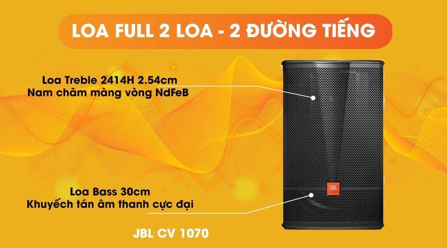 Loa JBL CV-1070 full 2 loa 2 đường tiếng