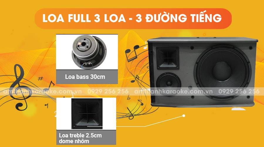 Loa JBL KI-512 full 3 loa 3 đường tiếng