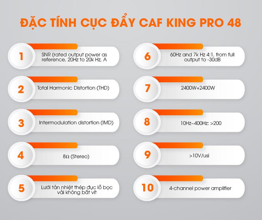Đặc tính của cục đẩy CAF King-48 Pro